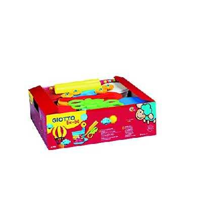 Giotto 35896 Pâte Modeler Bébé Schoolpack 220g Pâte 2 Rouleaux 2 Ciseaux 2 roulettes 2 Mirettes Lavande