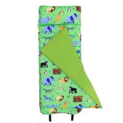 Wildkin Nap Mat avec Oreiller pour Les garçons et Les Filles Tout-Petits, Taille Parfaite pour Les garderies et Les Enfants d'âge préscolaire, conçu pour Tenir sur Un lit Standard