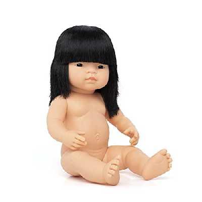 Miniland Miniland3105638cm Petite Fille Asiatique sans sous-vêtements
