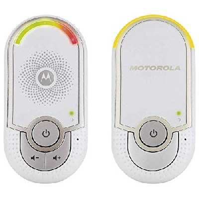 Motorola MBP 8 - Babyphone audio DECT avec Prise murale plug 'n go - éco mode et veilleuse - Blanc