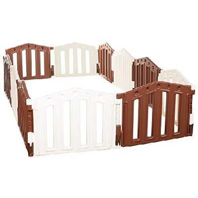 Parc de bebe XXL - 12 cotes - Barrière de sécurité modulable - ventouses incluses - 3 configurations différentes - le modèle 2012 certifié EN 71