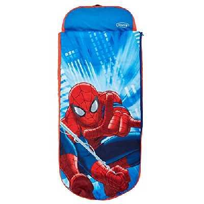 Marvel Spider-Man - Lit junior ReadyBed - lit d'appoint pour enfants avec couette intégrée, Mixte Adulte, Bleu, (L) 150 x (l) 62 x (H) 20cm