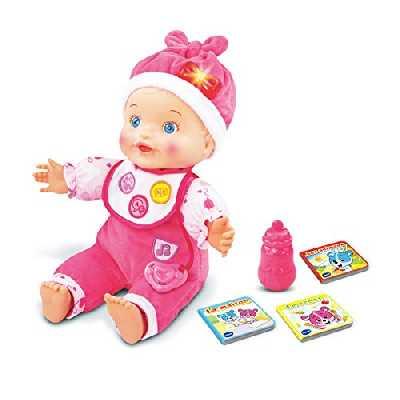 VTech – Little Love - Mon Bébé Apprend à Parler - Poupée Interactive, Poupée Évolutive - Version FR