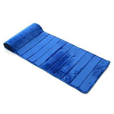My First Mattress Memory Foam Mat Nap avec amovible Oreiller, Bleu