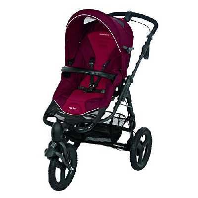Bébé Confort Poussette 3 Roues High Trek tout-terrain - Naissance à 15 Kgs - Robin Red