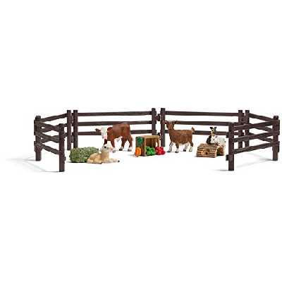 Schleich - 21052 - Accessoire pour figurine - Kit de jeu zoo avec animaux