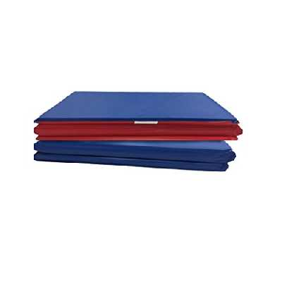 Peerless Plastics KM100 Basic Lot de 2 tapis de repos 4 sections 114,3 x 48,3 x 1,6 cm en vinyle Rouge/bleu