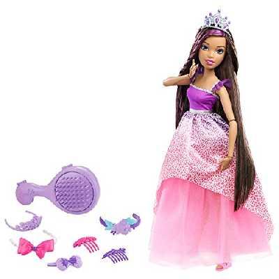 Barbie - DPK21 - Grandes princesse à coiffer - Brune - 43 cm