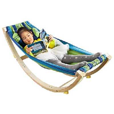 SoBuy® KMB16-J Lit Enfant Bébé Hamac Enfant Chaise Longue pour Enfant