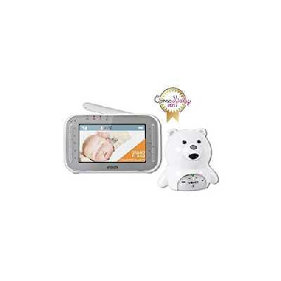 VTech – Babyphone Vidéo XL Ourson – Babyphone vidéo grand écran – Camera HD – Ecoute bébé sans fil - Version FR