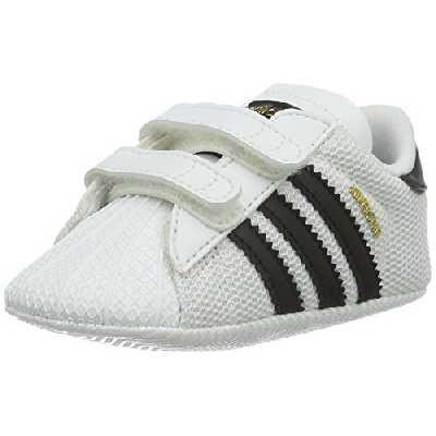 adidas Superstar Crib, Chaussures Premiers Pas Garçon Unisex Kinder, Blanc (Ftwbla/Negbas 000), 18 EU
