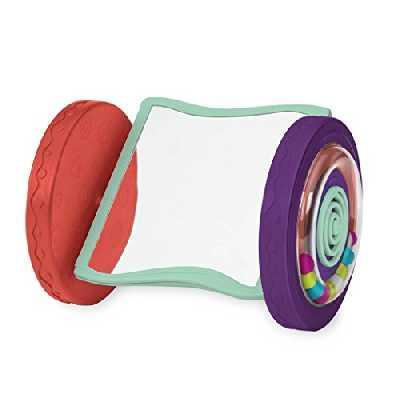 B. toys – Miroir roulant – Looky-Looky – Jouet sensoriel de premier age pour ramper – Enfants de 0 mois et plus