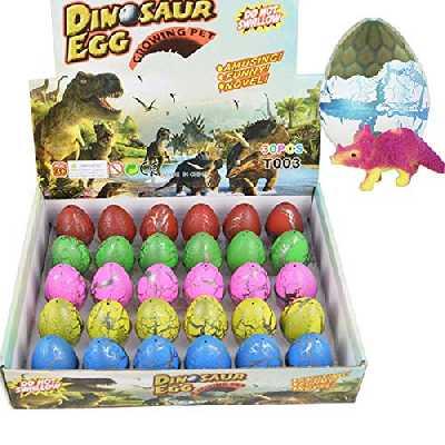Yeelan Dinosaur Eggs Toy Éclosion Growing Dino Dragon pour Les Enfants Grand Pack Taille de 30 pcs, Crack Colorful