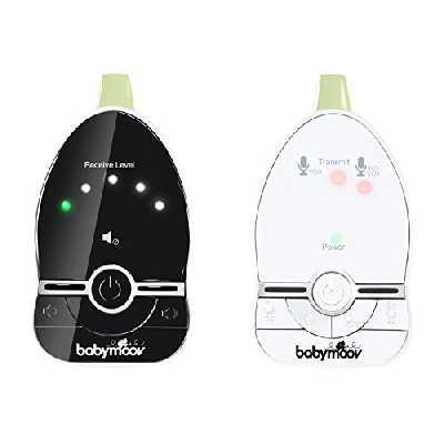 Babymoov Easy Care Babyphone Audio avec Vox, Veilleuse et Double Alarmes, Portée 500 m