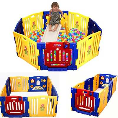 Infantsafe Grande Plastique bébé Parc Utilisation intérieur extérieur–robuste, facile à monter logement en panneaux–Fixation sans vis