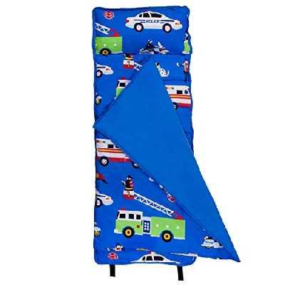 Wildkin Microfibre Nap Mat avec Oreiller pour Les garçons et Les Filles Tout-Petits, Taille Parfaite pour Les garderies et Les Enfants d'âge préscolaire, conçu pour Tenir sur Un lit Standard