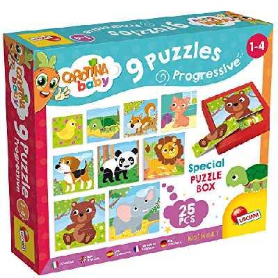 Lisciani Coffret de 9 Puzzles Progressifs Les Bebes Animaux, 58433