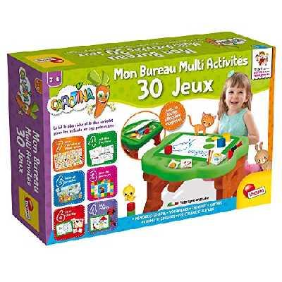 Lisciani - Carotina - Mon Premier Bureau Multi Activités - 30 Jeux éducatifs pour enfants à partir de 3 ans - FR58723