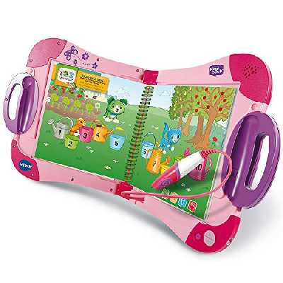 VTech - MagiBook Starter Pack Rose, Livre Interactif enfant - Version FR