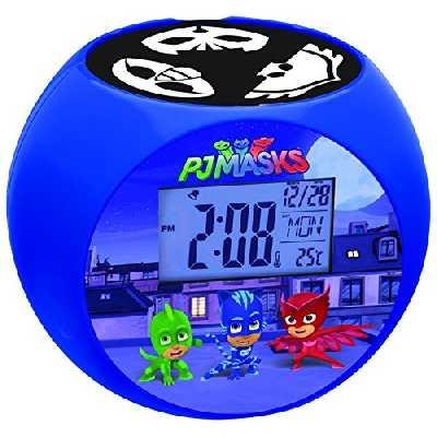 Lexibook Pyjamasques Yoyo Radio réveil projecteur, effets sonores, à piles, Bleu/Noir, RL975PJM