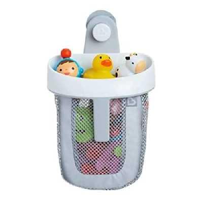 Munchkin - Filet de rangement et de rangement pour jouets de bain Super Scoop, gris