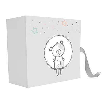 EMOTION 271340 TENDRES ANNEES COFFRET BEBE, Papier-Carton, Gris, 9 x 21 x 21 cm