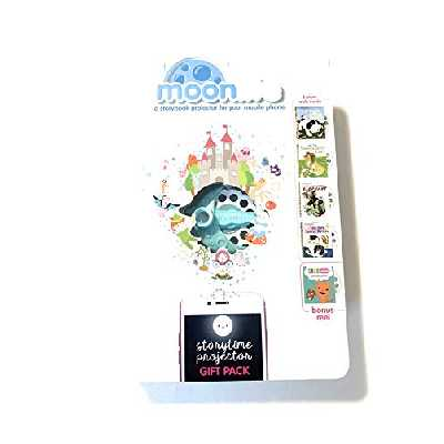 Moonlite Pack Cadeau Storybook Projecteur pour Smartphones 5 Stories Pack cadeau Projecteur multicolore