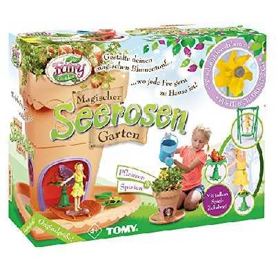 TOMY My Fairy Garden Kit de Jardin pour Enfants à partir de 4 Ans avec graines d'herbe - Kit créatif pour Filles