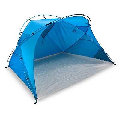 Outdoor XXL Santorin Alu Air Design Tente de plage Protection UV 80 Protection solaire Large Fenêtre pour aération Petit format Pour Voyage Facile grâce à ses armatures en aluminium