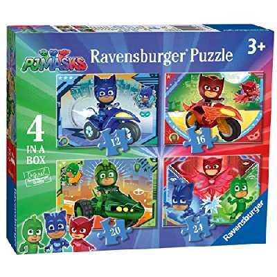 Ravensburger PJ Masks - Puzzle de 4 pièces (12, 16, 20, 24 pièces) pour Enfants à partir de 3 Ans