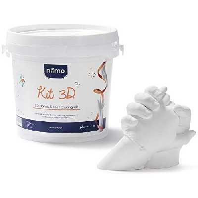 Kit de Moulage 3D Kit Moulage Empreinte Mains et Pieds Bebe Enfants Famille et Adultes Haute Qualité Alginate et Plâtre pour Moulages de Parties du Corp