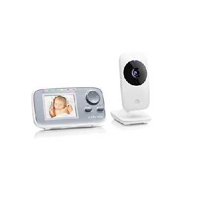Motorola Baby MBP 482 - Moniteur Vidéo Bébé - Caméra de surveillance pour bébé avec zoom - Écran couleur 2,4