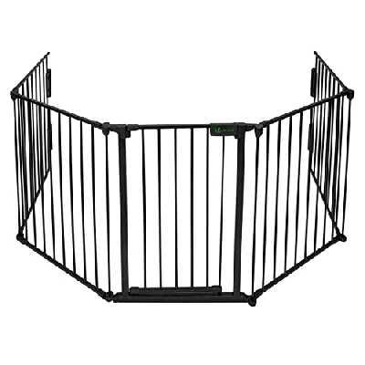 VOUNOT Barrière de sécurité enfant - GRANDE VERSION 3M | Barrière de protection cheminée | 5 panneaux – Pré-assemblé