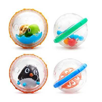 Munchkin - Jouets flotteurs de bain, bulles, lot de 4