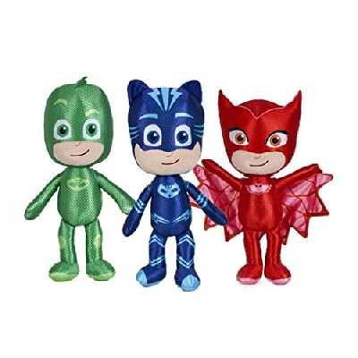 Pyjamasques Set Complet 3 Peluche 35cm PJ Masks - Plush - Yoyo Bibou Gluglu - 100% Original et Officiel Catboy Owlette Gekko