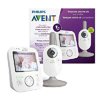 Philips Avent SCD843/01 Babyphone vidéo A-FHSS - écran LCD 3.5