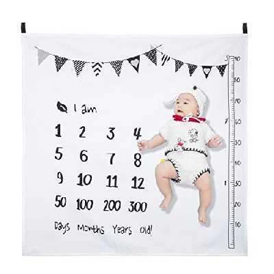 Hifot mensuel Milestone Couverture de bébé nouveau-né Photo Couverture Photographie Fond Prop Garçon fille Croissance Toile de fond Tapis