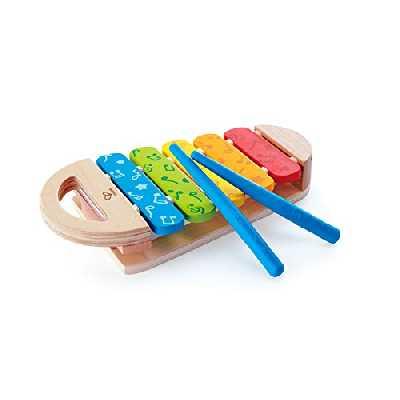 Hape- Xylophone en Bois, E0606, Coloré
