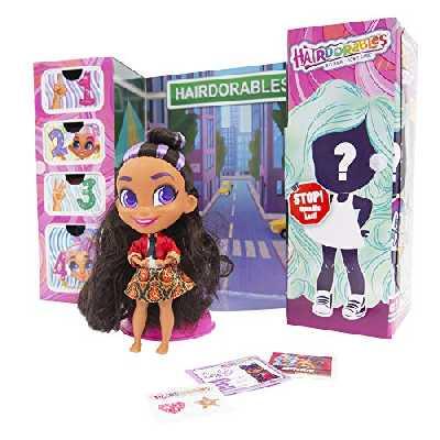 Hairdorables, Poupée (Serie 2) avec 11 Accessoires Surprises, Cheveux à coiffer, Modèles aléatoires, 26 poupées à collectionner, Jouet pour enfants dès 3 ans, HAA03