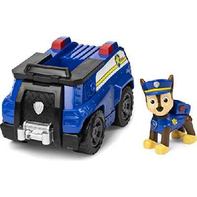 La Pat' Patrouille - 6056845 - Jeu Jouet enfant - Véhicule + Figurine Chase - Figurines Paw Patrol