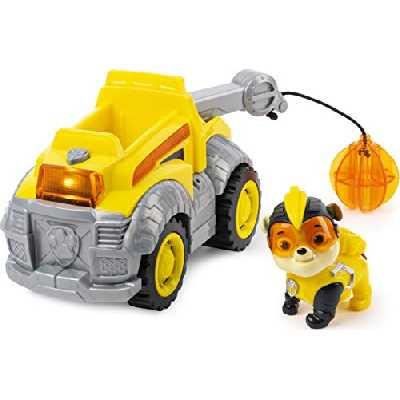 Paw Patrol - 6054650 - Jeu enfant - Véhicule + Figurine Mighty Pups Ruben - La Pat' Patrouille