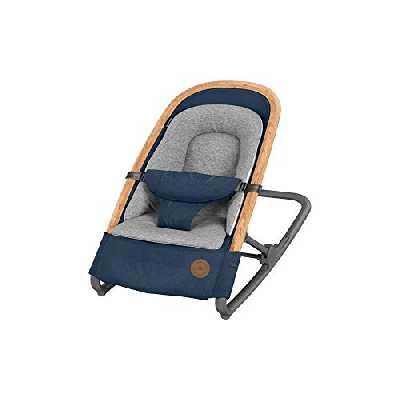 Bébé Confort Kori Transat bébé 2 en1, Transat Léger avec Réducteur Confortable pour Nouveau-Né, de La Naissance à 9 Mois (0-9 Kg), Essential Blue