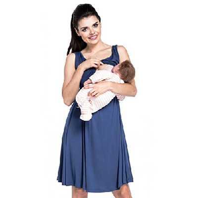 Zeta Ville - Maternité Robe de Grossesse d'allaitement col en V - Femme - 685c (Style 1, EU 40/42,)
