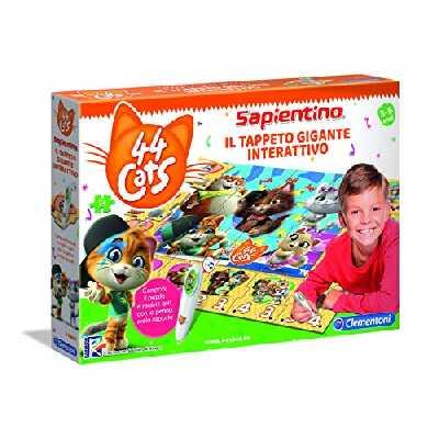 Clementoni 16192 Sapientino 44 Chat Tapis géant interactif 3 Ans Multicolore