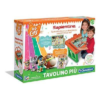 Clementoni - Sapientino-Table Basse Plus 44 Chats, Multicolore, 16194