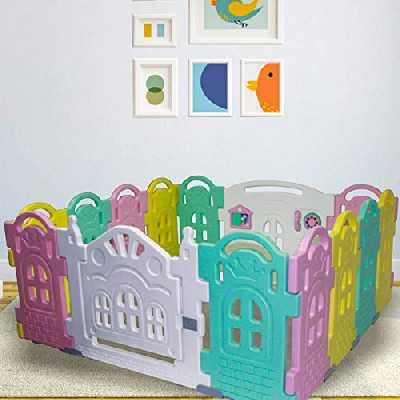 Stylo de jeu pour bébé avec panneau d'activité, parc pour bébé et bébé - 12 + 2 panneaux colorés