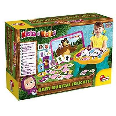 Lisciani - Masha et Michka Baby Bureau Educatif -Coffret de Jeux Educatifs Pour Les enfants à partir de 2 ans - FR78042