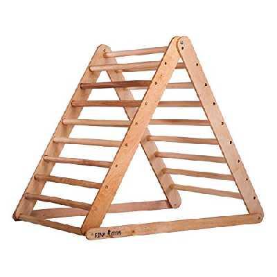 RINAGYM Échelle Triangle d'Escalade - Gymnase d'Intérieur pour Enfants - Aire de Jeu Maison - Cadre en Bois, Peinture Non-Toxique - Équipement d'Équilibre Pliable