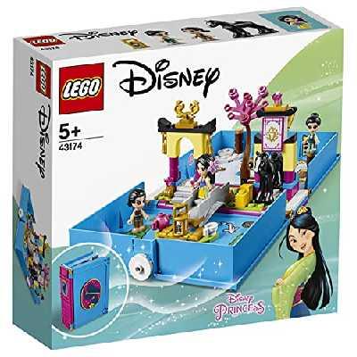 LEGO Disney Princess, Les aventures de Mulan dans un livre de contes avec figurine Khan le cheval, Étui de jeu de voyage portable, 122 pièces, 43174
