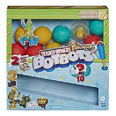 Transformers Hasbro Toys BotBots Série 4 Surprise Unboxing: Machine à Griffes – 5 Figurines, 4 Autocollants, 1 Figurine Rare dorée – pour Enfants à partir de 5 Ans